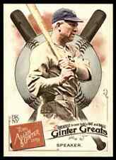 2019 TOPPS ALLEN & GINTER GREATS TRIS SPEAKER INDIANS #GG-43 INSERT