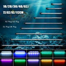 20-130CM Submersible LED Aquarium Fish Tank Light Bar Lamp Blue White    Y