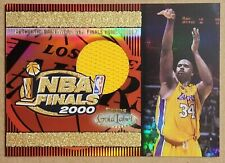 New listing Shaquille O'neal 2000 Topps Gold Label NBA FINALS GAME used Home Jersey Lakers