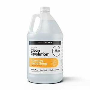 Clean Revolution Foaming Hand Soap Refill Supply Container. Ready to Use Dreamy