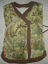 T-shirt croisé vert – 12 ans