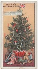 History Of The Christmas Tree Custom In England 90+ Y/O Ad Trade Card