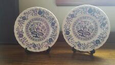 Enoch Wedgwood Blue Heritage Bread and Butter dishes