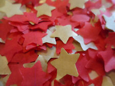 2000 Red & Gold/Tissue/Wedding /Party/Christmas/Confetti/Stars/Decoration