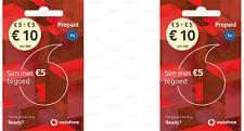 2x SIM-Karte Vodafone NL Guthaben 10 € EU-Roaming Aktiviert Einsatbereit Prepaid