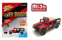 Johnny Lightning Off-Road Hummer H1 Wagon Red 1/64 Diecast Model Car JLCP7154