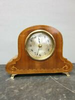 Vintage Marquetry Mantle Clock