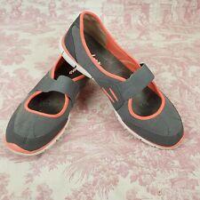 Skechers Size 11 Flex Shoes  22121 Asana Slip On Mary Jane Womens Gray Coral