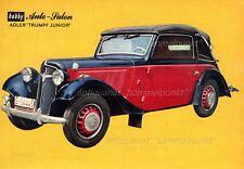 Adler Trumpf Junior (1934) - Original Miniposter / Datenblatt von 1965