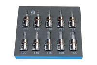 """10pc US PRO Security Torx Star Bit Sockets Set T10 - T55 3/8"""" Drive New 2099"""