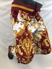 Hommes Victorious Décontracté Pantalon Survêtement Urban Bordeaux or Blanc Crest