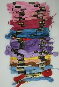 40+ DMC Floss Embroidery Thread Assorted Free Shipping in US