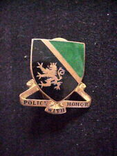 WWII US MILITARY POLICE BN Police with Honor UNIT INSIGNIA PIN