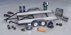1:18 Scale Mopar Racing Tandem Trailer & Tool Set by GMP G1800149
