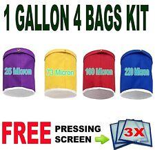 Herbal Ice Bubble Hash Bag Essense Extractor Kit 1 Gallon 4 Bag w/ 3 Screen 4B3M