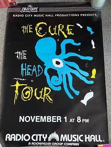 The Cure The Head Tour Poster Nov. 1. 1985 Original Promo Poster Radio City NYC