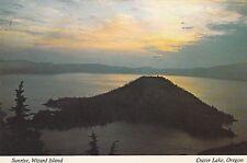 "*Oregon Postcard-""Sunrise, Wizard Island"" /Crater Lake Nat'l Park/ (U2-Or8)"