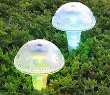 12 Outdoor Garden Solar Mushroom Landscape Stake Pathway Lights Led