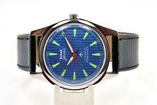 HMT Jawan BLUE 17 Jewels Para Shock Hand Winding Wrist Watch RH Men's