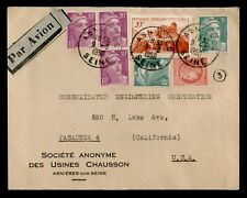 DR WHO 1950 FRANCE ASNIERES AIRMAIL TO USA C237287