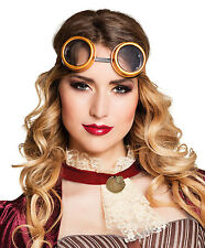 Steampunk Goggles Cyber Punk Deluxe Vintage Retro Victorian Glasses Fancy Dress