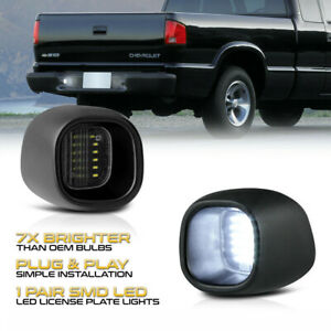 For Chevy S10 GMC Sonoma Blazer Jimmy SMD LED License Plate Light Tag Lamp EA
