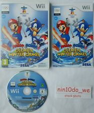 MARIO AND SONIC AT THE OLYMPIC WINTER GAMES (Wii) -Ski Jump+Cross+Curling++GC✔