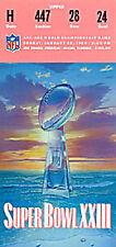 Super Bowl 23 Ticket January 22 1989