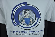 If People Could Read My Mind I'd get punched in face a lot Super Hero T Shirt L