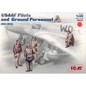 USAAF Pilots & Ground Personnel 1941 - 1945 (Plastic model kit) 1/48 ICM 48083