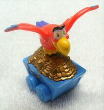 "DISNEY Aladdin Vinyl Figurines-Iago Parrot on Treasure Moving Cart 2"" Tall-VG-Ch"