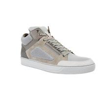NEW $680 Lanvin Men's High Top Slate Grey Multi Texture Mesh Sneakers Size 11 US