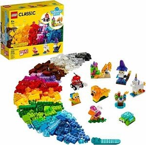 LEGO Classic Creative Transparent Bricks 11013 Building Kit 500pcs Jan.1,2021