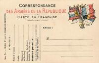 1910s WWI French Postcard CORRESPONDANCE des ARMEES de la REPUBLIQUE  - UNUSED