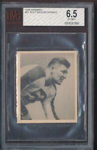 1948 Bowman Football #61 Alex Wojciechowicz Eagles Graded BVG 6.5 EX-MT+