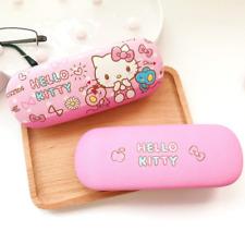 Cute Hello Kitty PU Hard Shell Eye Glasses Eyeglass Case Box Frame Protector