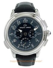 JAQUET DROZ GMT Chronograph Steel Gents Watch J002120105 Box/Papers/Warranty