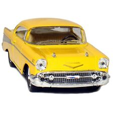 "New 5"" Kinsmart 1957 Chevrolet Bel Air Diecast Model Toy Car 1:40 Chevy Yellow"