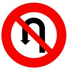 ROAD SIGNS (NO U -TURN) -  NOVELTY FRIDGE MAGNET - BRAND NEW