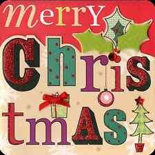 Joy Feliz Navidad Caja De 5 Mano acabado 3d Tarjetas De Navidad En Caja Navidad Tarjeta