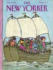 New Yorker COVER 10/09/1989  Seasick Pirates  STEIG