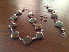 Beautiful Jasper necklace bracelet earring set Fantastic stones