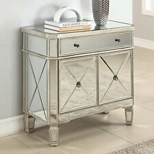 Set of 2 GLAM MIRRORED FURNITURE DRESSER BEDROOM NIGHTSTAND HOLLYWOOD REGENCY