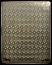 Sizzix Large Embossing Folder DIAMONDS IN DIAMONDS fits Cuttlebug 4.5x5.75in