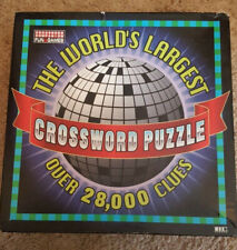 """""""THE WORLD'S LARGEST CROSSWORD Puzzle"""" ~ OVER 28,000 CLUES"""