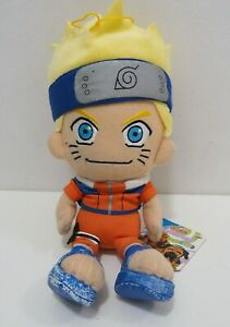 "Naruto Uzumaki Banpresto 2005 USED Plush 8"" Stuffed TAG Toy Doll Japan"