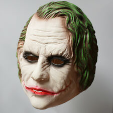 The Dark Knight Movie Batman Joker Latex Mask Costume Halloween Cosplay Prop