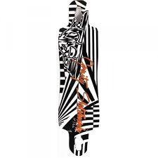 Gravity Longboard Drop Through Freeride Deck Mauka 36 x 9.75 inch mit Kratzern