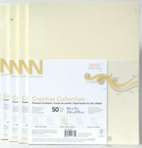 """(4) Neenah Paper Creative Collection Basic 8.5"""" x 11"""" Cardstock Paper, 65 lbs.,"""