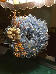 Fall door decor wreath